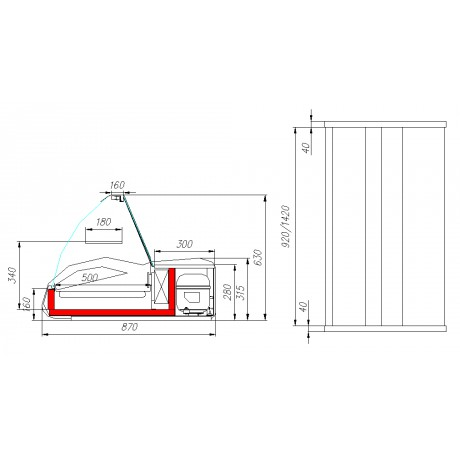 Настольная витрина ВХС-1,0 Арго - A87 SM 1,0-1
