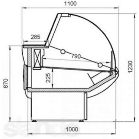 Холодильная витрина ВХСн-1,2 Илеть