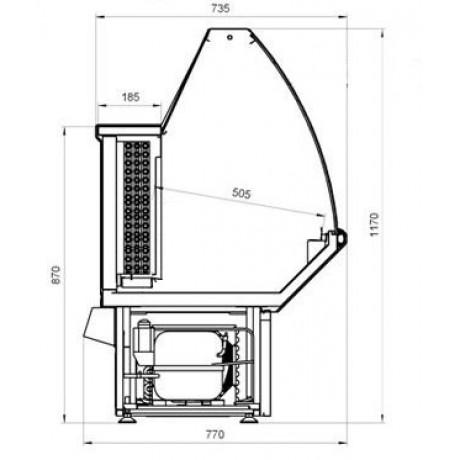 Морозильная витрина ВХН-1,8 Нова