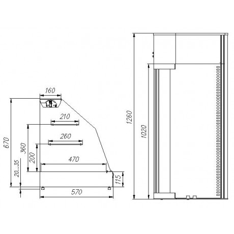 Холодильная  витрина ВХС-1,2 Арго XL (вентилируемая)