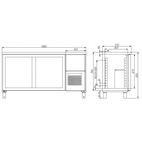 Холодильный стол BAR-360К