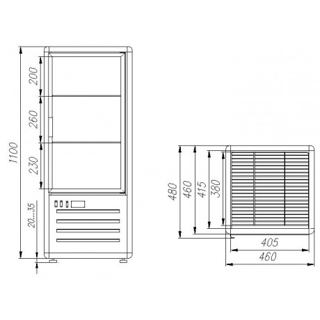 Кондитерский шкаф R120C Carboma