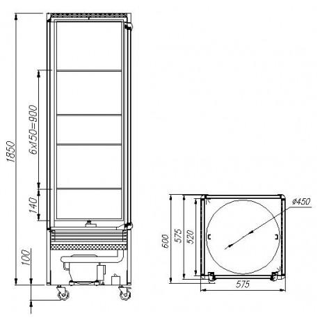 Кондитерский шкаф R400Cвр Carboma