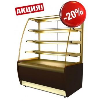 Витрина кондитерская Полюс ВХСв-1,3д Carboma