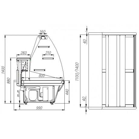 Кондитерская витрина ВХСд-1,2 Полюс