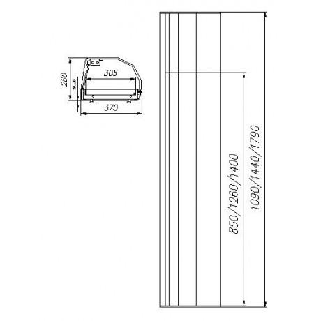 Барная витрина ВХСв-1,5 Carboma (под 6 гастроёмкостей)