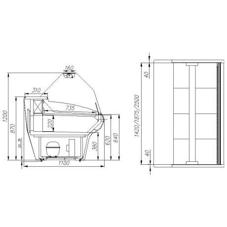 Холодильна вітрина ВХСр-2,0 Carboma