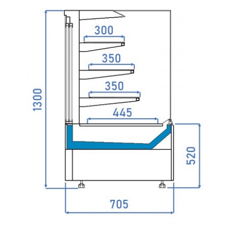 Кондитерська вітрина Селенга QSG 80 ВВ