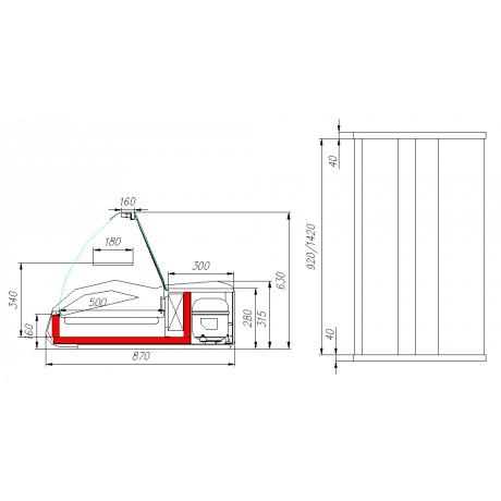 Настольная витрина ВХС-1,5 Арго - A87 SM 1,5-1