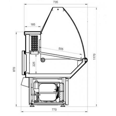 Холодильна вітрина ВХСн-1,5 Нова