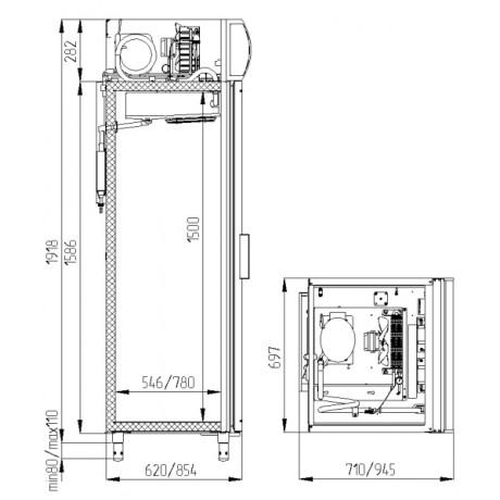 Холодильный шкаф POLAIR DM105-S