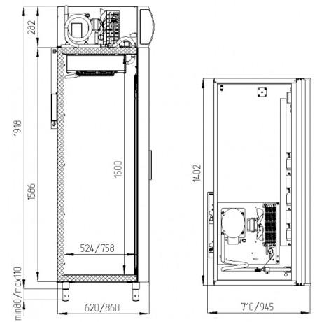 Шафа холодильна POLAIR  DM110-Sd-S