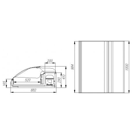 Тепловая витрина ВТ-1,0 Арго XL ТЕХНО