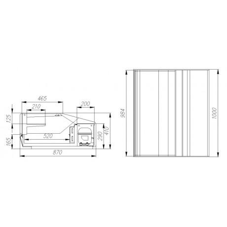 Тепловая витрина ВТ -1,0 Cube Арго XL ТЕХНО